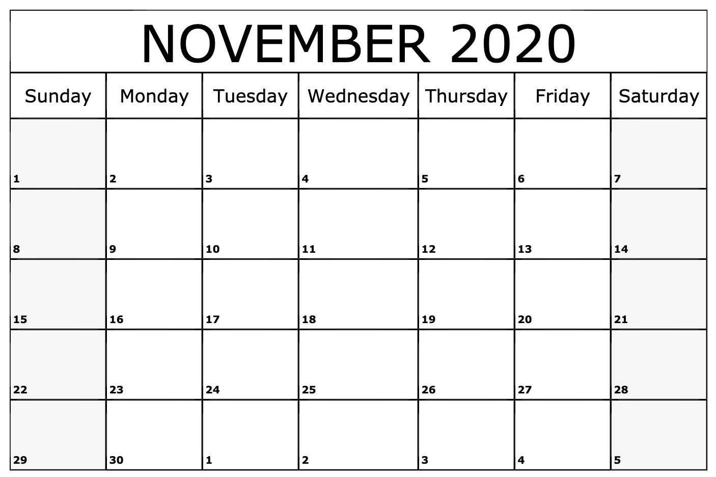 photo about Nov Calendar Printable Pdf referred to as November 2020 Calendar PDF, Term, Excel Template