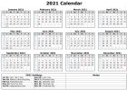 2021 Calendar with Holidays