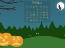 October 2019 Calendar HD Wallpaper