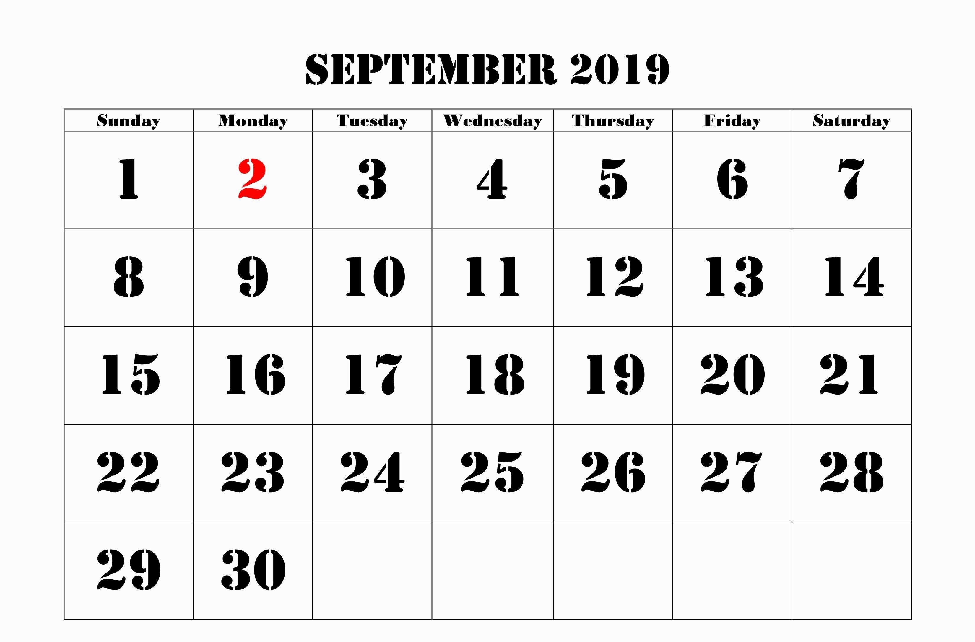 September 2019 Calendar Moon Phases