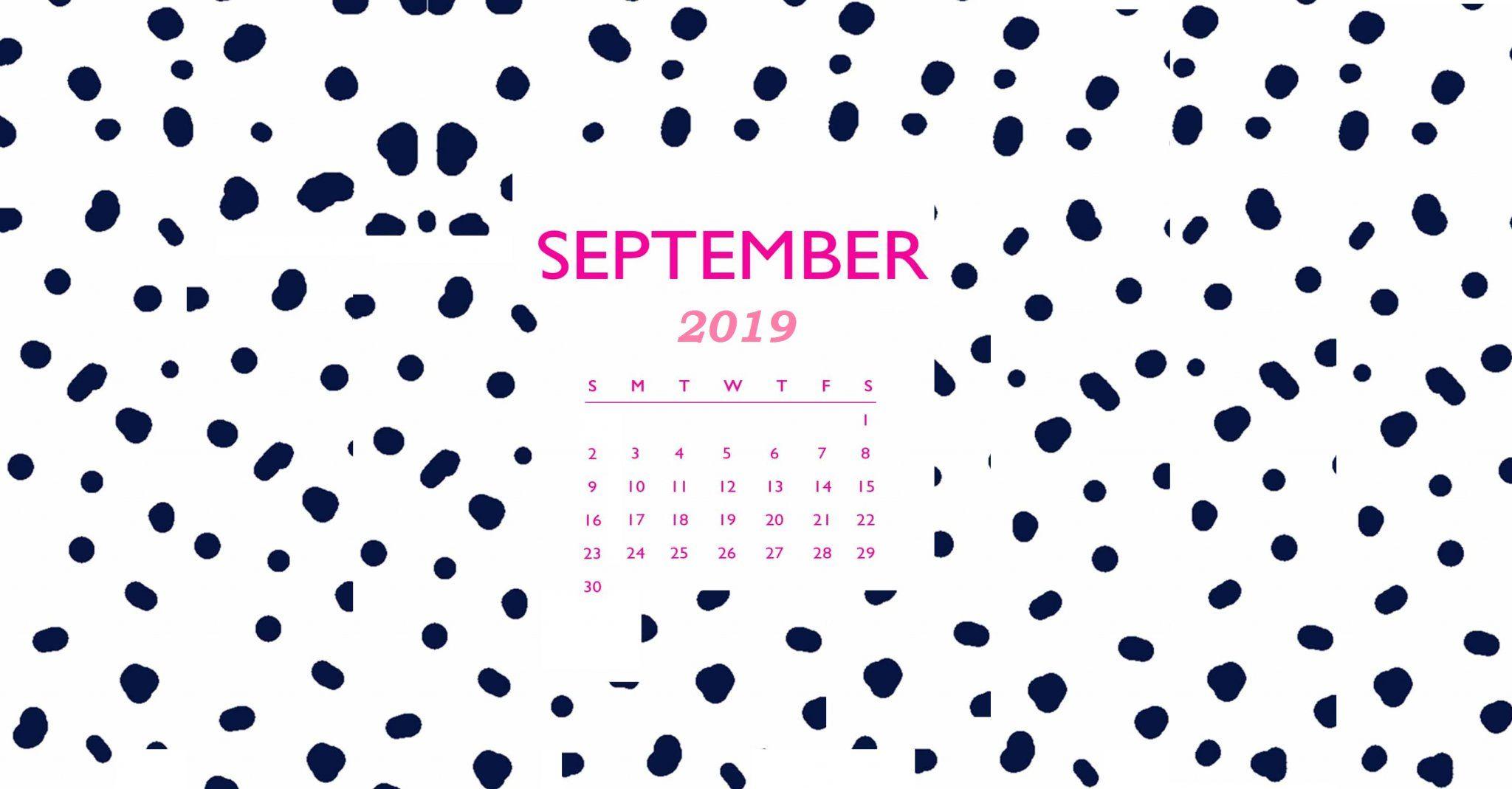 September 2019 Calendar Wallpaper
