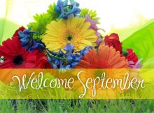 September Welcome Floral Images