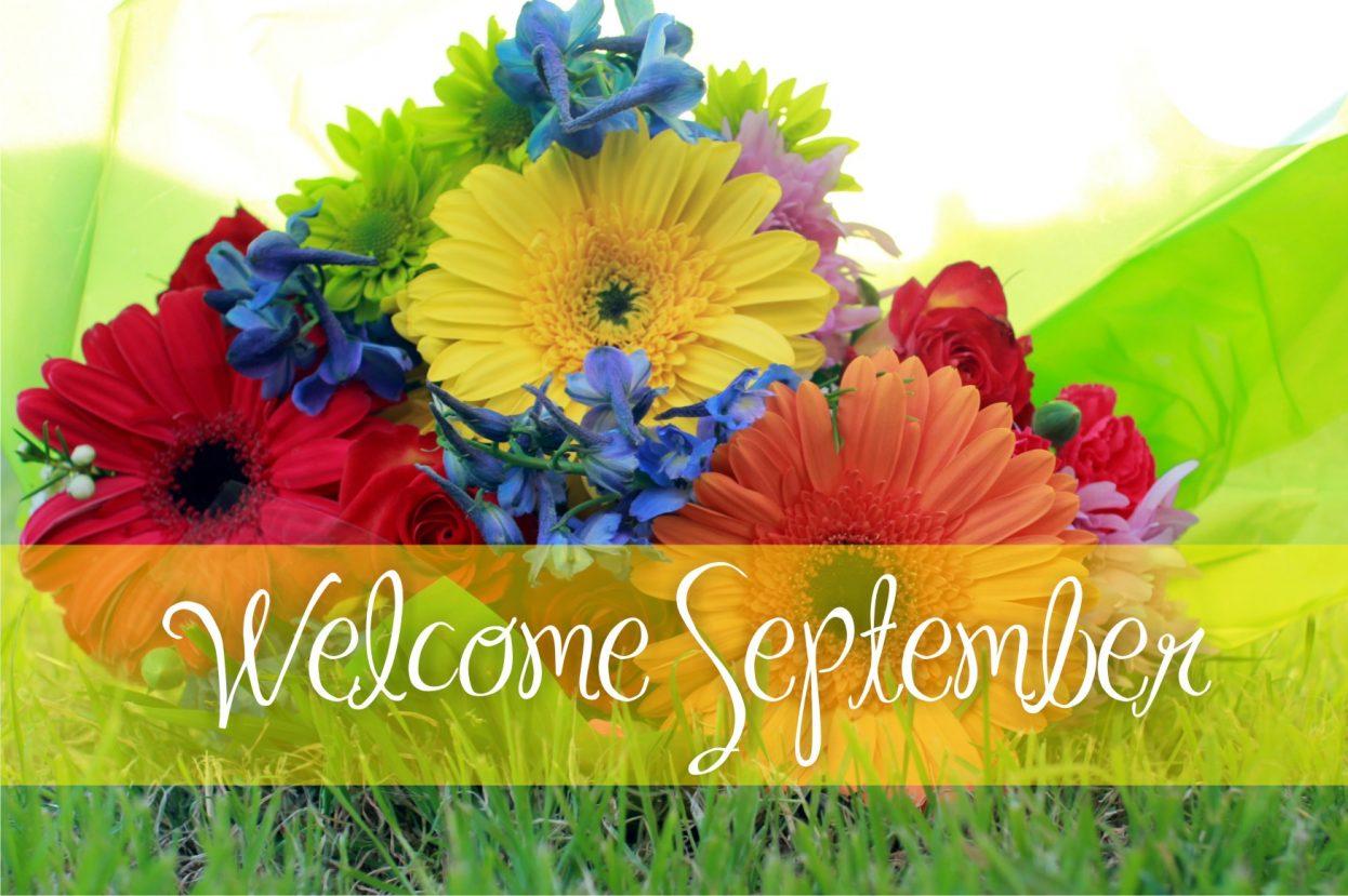 September Welcome Floral Images
