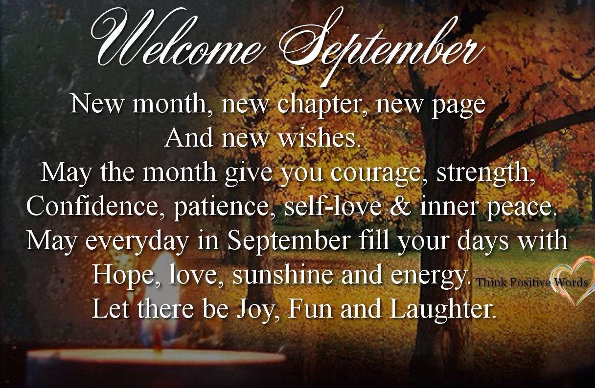 Welcome September Positive Quotes Images