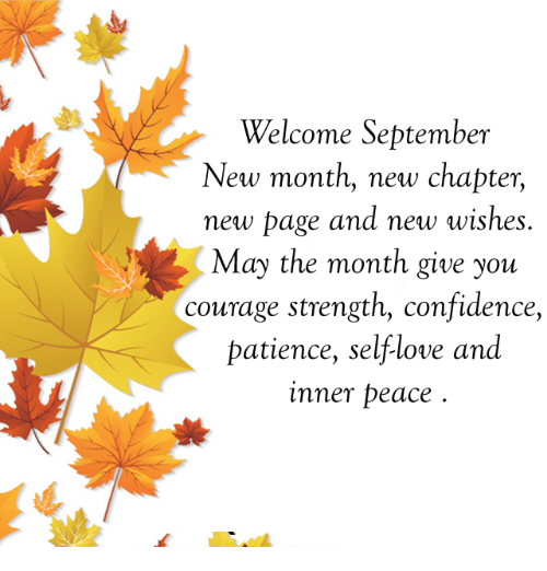 Welcome September Thought Full Quotes Pics