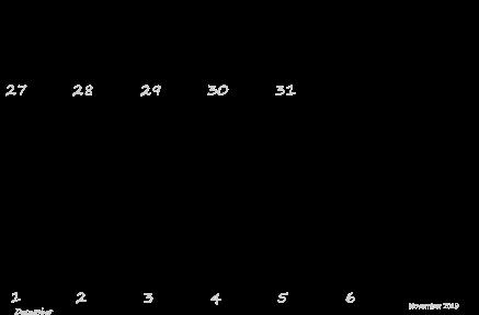 Blank November Calendar 2019