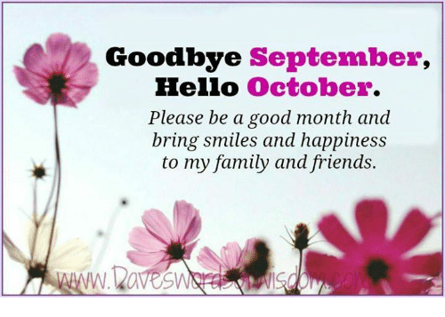 Hello October Goodbye September Month Images and Pictures