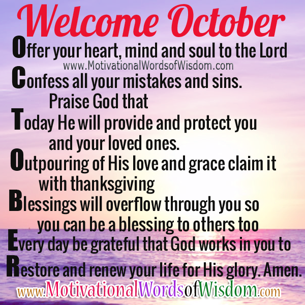 Welcome October Quotes and Images