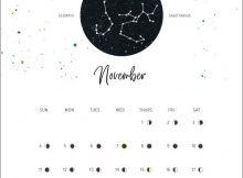 Moon Phases November 2019 Calendar