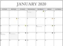 January Moon Calendar 2020 Phases