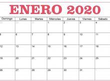 Calendario Enero 2020 Para Imprimir