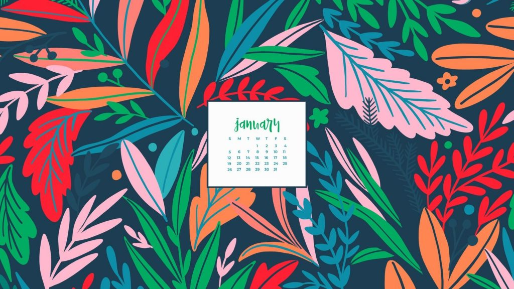 Free January 2020 Wallpaper Calendar