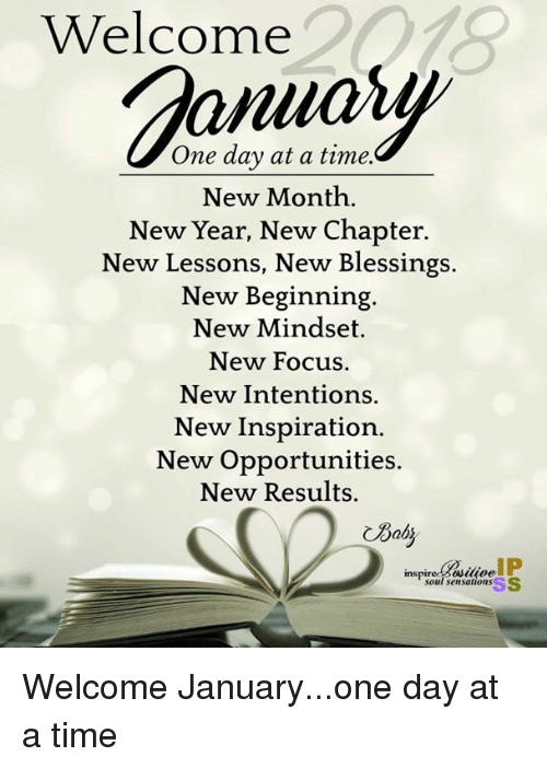 Welcome January Quotes