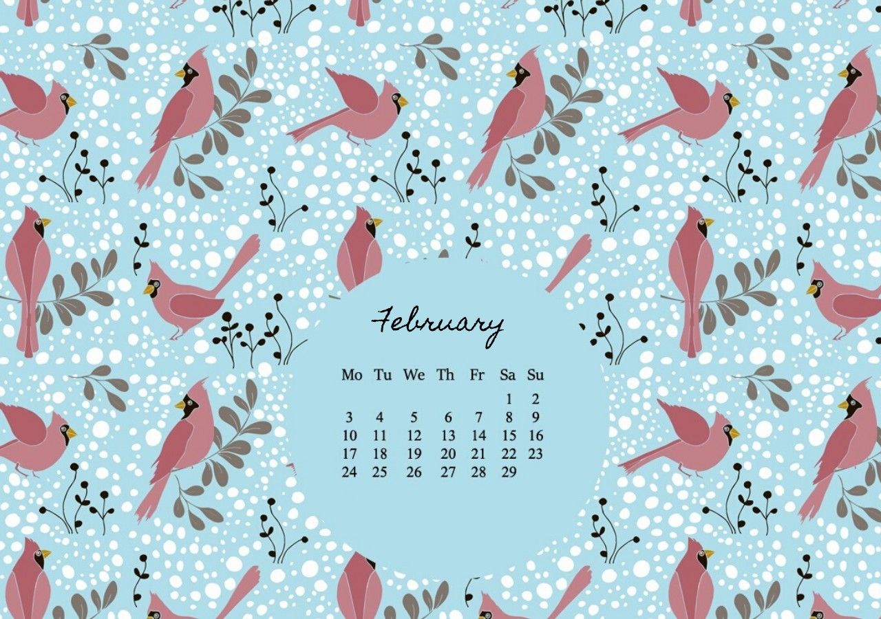 February 2020 HD Desktop Calendar