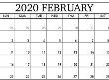 February Calendar 2020 Holidays