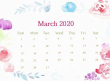 March 2020 Calendar Wallpaper for Laptop