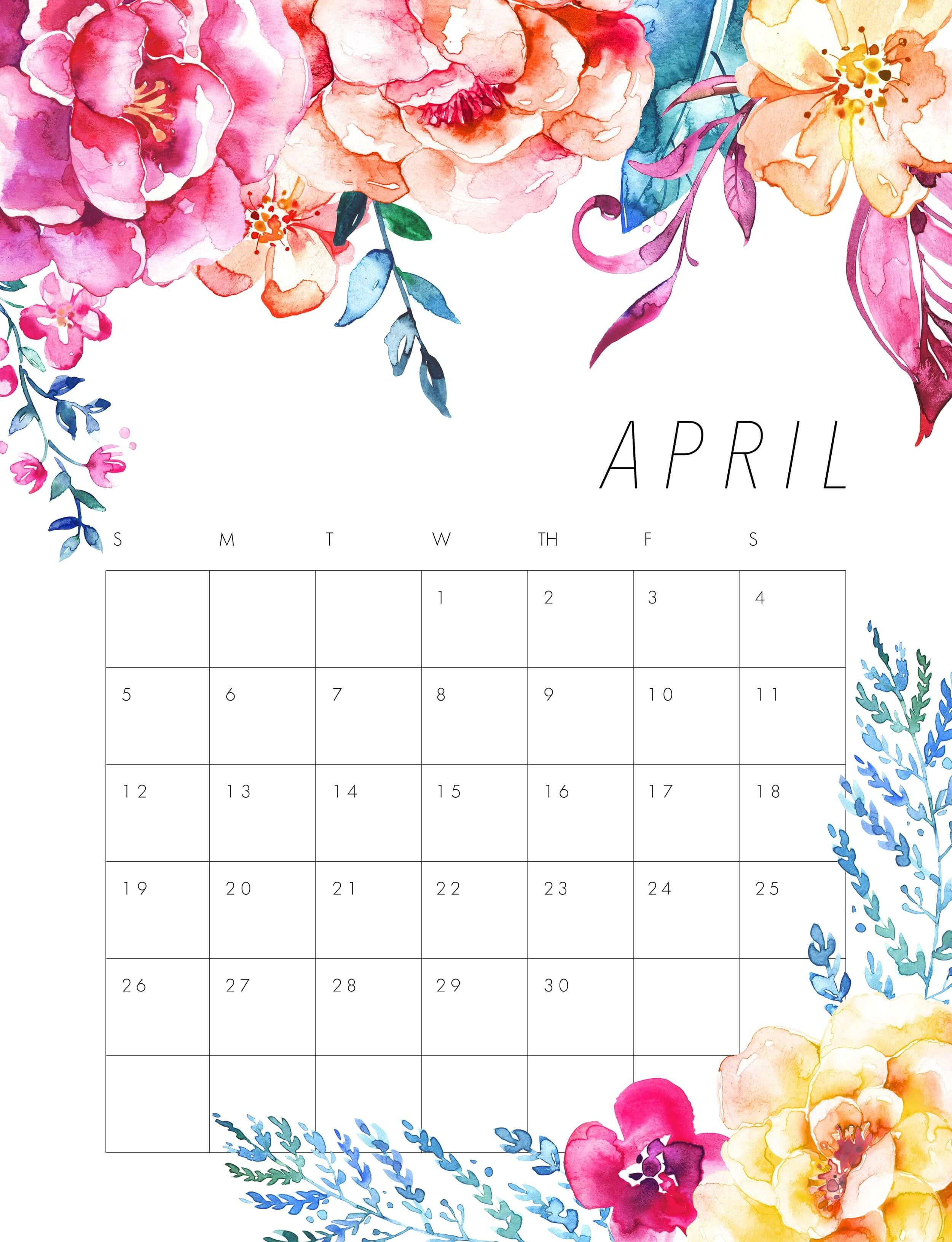 April 2020 Calendar Wallpaper