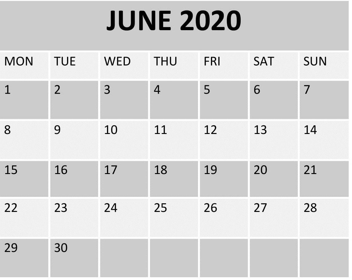June 2020 Calendar US Holidays